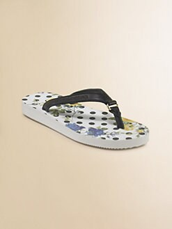 Dolce & Gabbana - Girl's Polka Dot Flip Flops