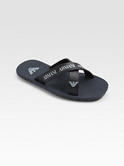 Armani Junior - Boy's Crisscross Logo Flip Flops