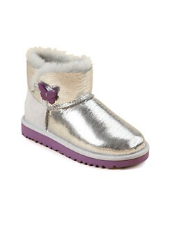 UGG Australia - Infant's, Toddler's & Girl's Metallic Lizard Bailey Button Boots