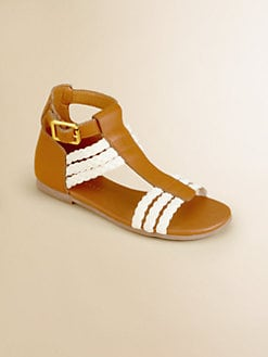 Ralph Lauren - Girl's Katrina Braided Leather Sandals