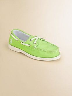 Ralph Lauren - Girl's Wellington Neon Boat Shoes
