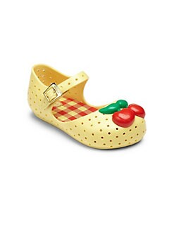Mini Melissa - Infant's & Toddler's Furadinha Cherry Mary Jane Flats