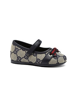 Gucci - Infant's & Toddler Girl's GG Signature Web Mary Jane Flats