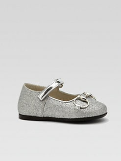 Gucci - Infant's & Toddler Girl's Shiny Horsebit Mary Jane Flats