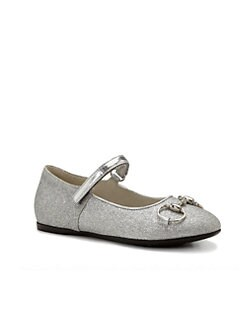 Gucci - Girl's Shiny Horsebit Mary Jane Flats