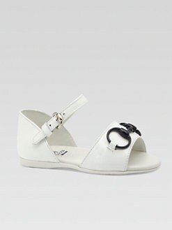 Gucci - Infant's & Toddler Girl's Leather Horsebit Sandals