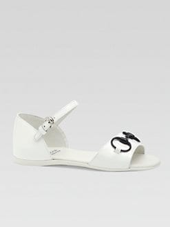 Gucci - Girl's Leather Horsebit Sandals