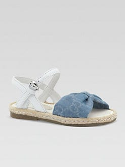 Gucci - Infant's & Toddler Girl's GG Chambray Sandals