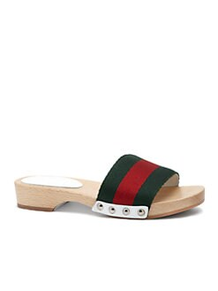 Gucci - Girl's Signature Web Sandals