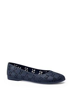 Gucci - Girl's GG Rubber Ballerina Flats
