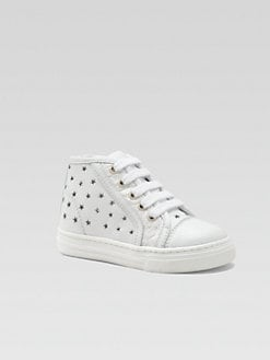 Gucci - Infant's & Toddler Girl's Perforated Stars Leather High-Top Sneakers
