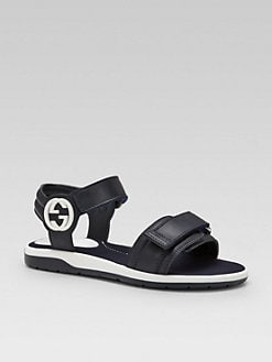Gucci - Boy's Leather Sandals