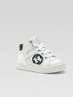 Gucci - Infant's & Toddler Boy's Leather Interlocking GG High-Top Sneakers