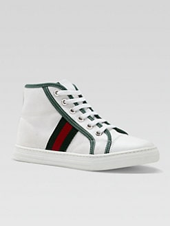 Gucci - Kid's Signature Web High-Top Sneakers