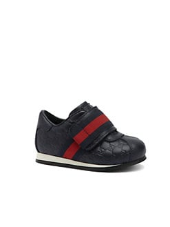 Gucci - Infant's & Toddler Boy's Leather GG Web Sneakers