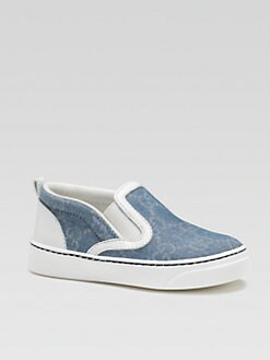 Gucci - Infant's & Toddler Boy's Chambray Slip-On Sneakers