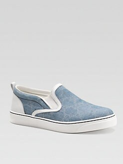 Gucci - Boy's Chambray Slip-On Sneakers
