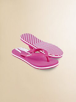 Lacoste - Little Girl's Signature Flip Flops