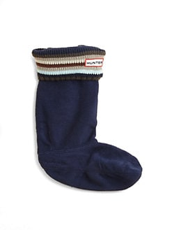 Hunter - Kid's Striped-Cuff Boot Liners