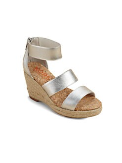 Kors Kids - Girl's Metallic Espadrille Sandals