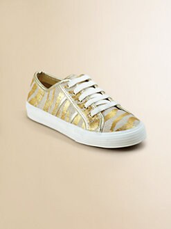 Kors Kids - Girl's Metallic Striped Sneakers