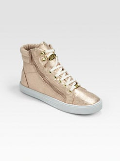 Kors Kids - Girl's Metallic High-Top Sneakers