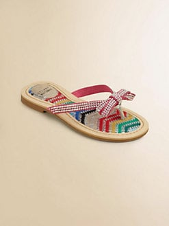 Stuart Weitzman - Girl's Jeweled Bow Flip Flops