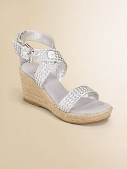 Stuart Weitzman - Girl's Braided Wedge Sandals