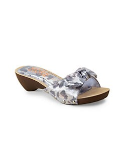 Kors Kids - Girl's Metallic Bow Clogs