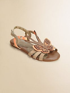 Geox - Little Girl's & Girl's Butterfly Sandals/Beige Brown