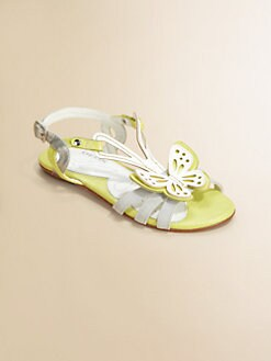Geox - Little Girl's & Girl's Butterfly Sandals/Grey Lime