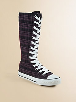 Converse - Girl's Chuck Taylor All-Star Plaid X-Hi Sneakers
