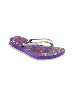 Havaianas - Little Girl's & Girl's Glow-in-the-Dark Tinkerbell Flip Flops/Purple