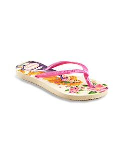 Havaianas - Little Girl's & Girl's Disney Princess Flip Flops/White Pink