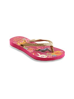Havaianas - Little Girl's & Girl's Glow-in-the-Dark Tinkerbell Flip Flops/Super Pink
