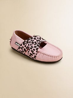 Venettini - Toddler's & Girl's Spotted-Strap Slip-Ons