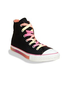 Converse - Girl's Chuck Taylor All Star Hi-Top Fun Foxing Sneakers
