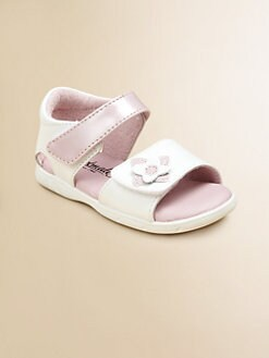 Footmates - Infant's & Toddler Girl's Fleur Leather Sandals