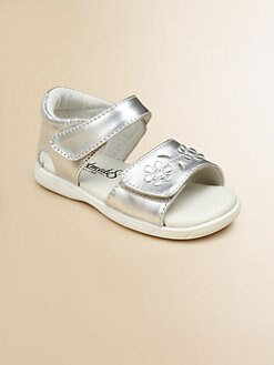 Footmates - Infant's & Toddler Girl's Metallic Fleur Sandals