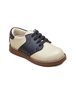 Footmates - Infant's, Toddler's & Boy's Leather Oxford Saddle Shoes