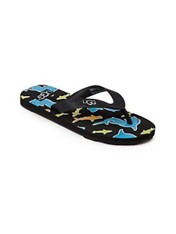 UGG Australia - Boy's Jacksen Shark Flip Flops
