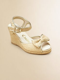 Juicy Couture - Girl's Annika Bow Wedge Sandals