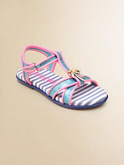 Juicy Couture - Girl's Adele Palm Tree Sandals