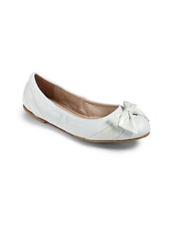 Bloch - Girl's Fiochetta Leather Ballerina Flats