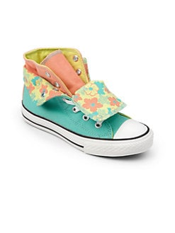 Converse - Girl's Chuck Taylor  All Stars Two-Fold Floral Hi-Top Sneakers