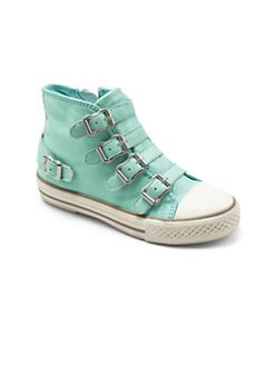 Ash - Toddler's & Little Girl's Buckle High-Top Sneakers