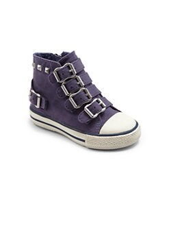 Ash - Infant's & Toddler's Studded Buckle High-Top Sneakers