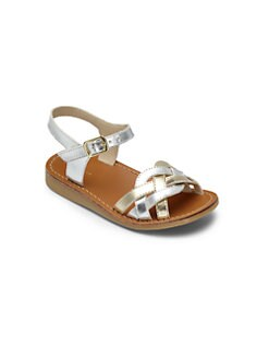 Cole Haan - Toddler's & Little Girl's Woven Patent Leather Sandals