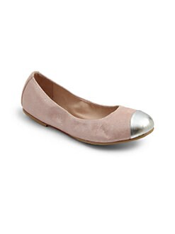 Bloch - Girl's Bellina Cap-Toe Leather Ballet Flats