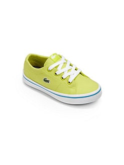 Lacoste - Little Kid's Canvas Lace-Up Sneakers/Green